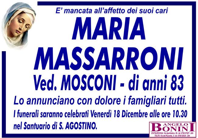 MARIA MASSARRONI ved. MOSCONI di anni 83