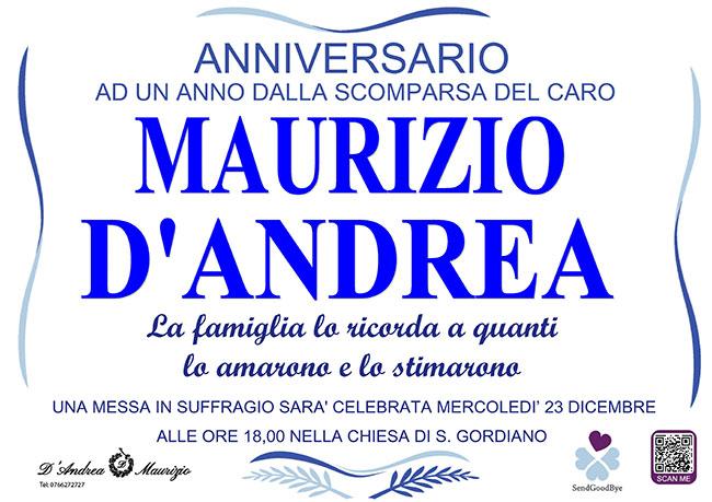 MAURIZIO D'ANDREA – Anniversario