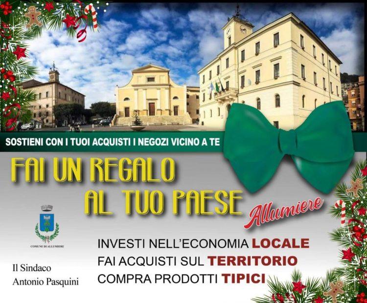 Il sindaco Pasquini esorta gli allumieraschi  ad acquistare prodotti nelle attività del paese