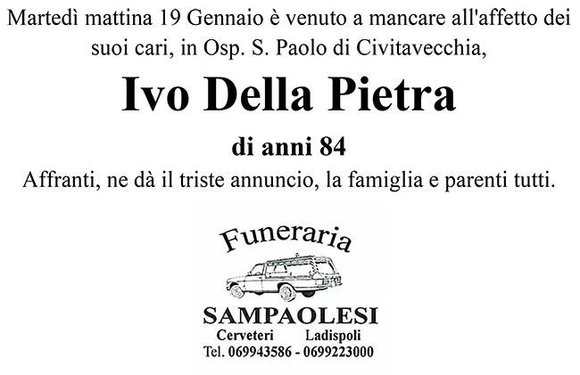 IVO DELLA PIETRA di anni 84