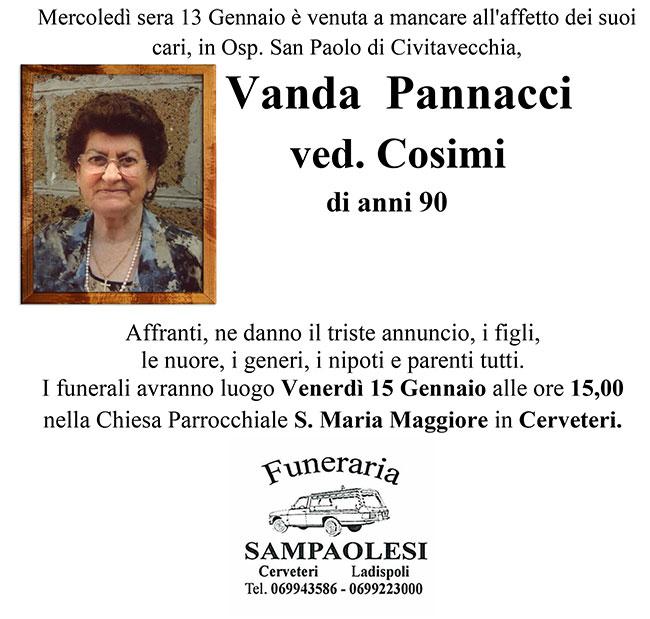 VANDA PANNACCI ved. COSIMI di anni 90