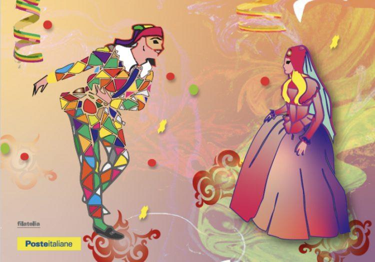 Poste, negli uffici di Tarquinia una cartolina filatelica dedicata al Carnevale 2021