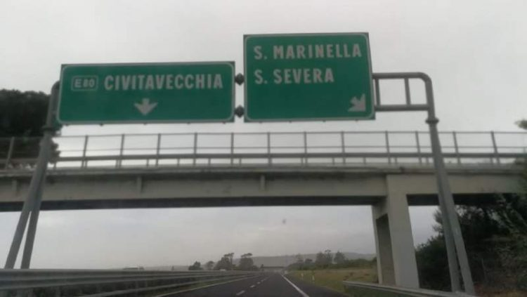 A12: chiuso il tratto Civitavecchia sud-Santa Severa per lavori