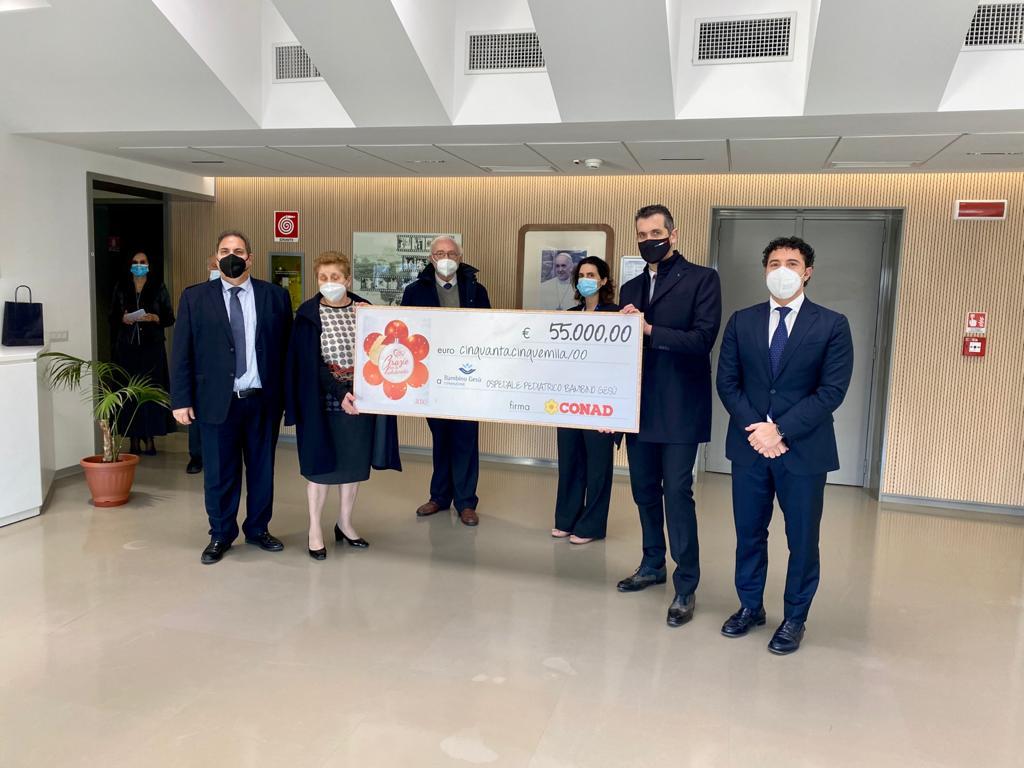 Conad nord ovest dona 55mila euro alla Fondazione Bambino Gesù