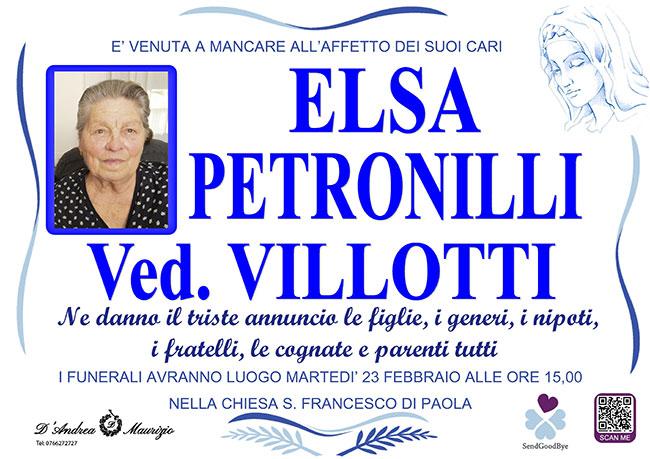 ELSA PETRONILLI ved. VILLOTTI