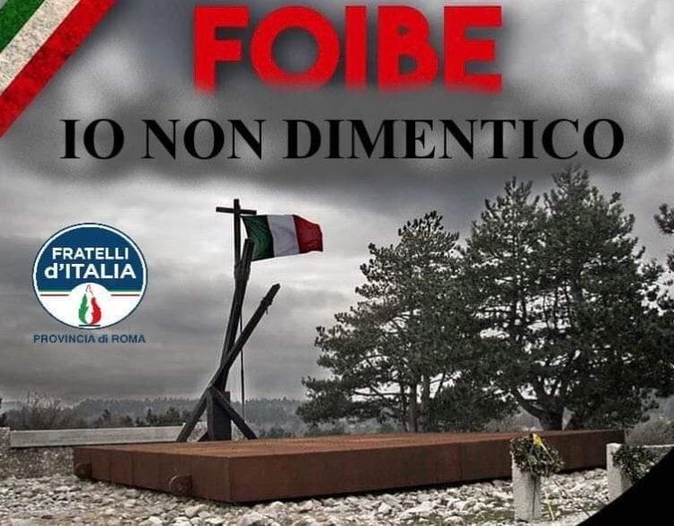 Giorno del Ricordo, commemorazione di Fdi Civitavecchia al parco Martiri delle foibe