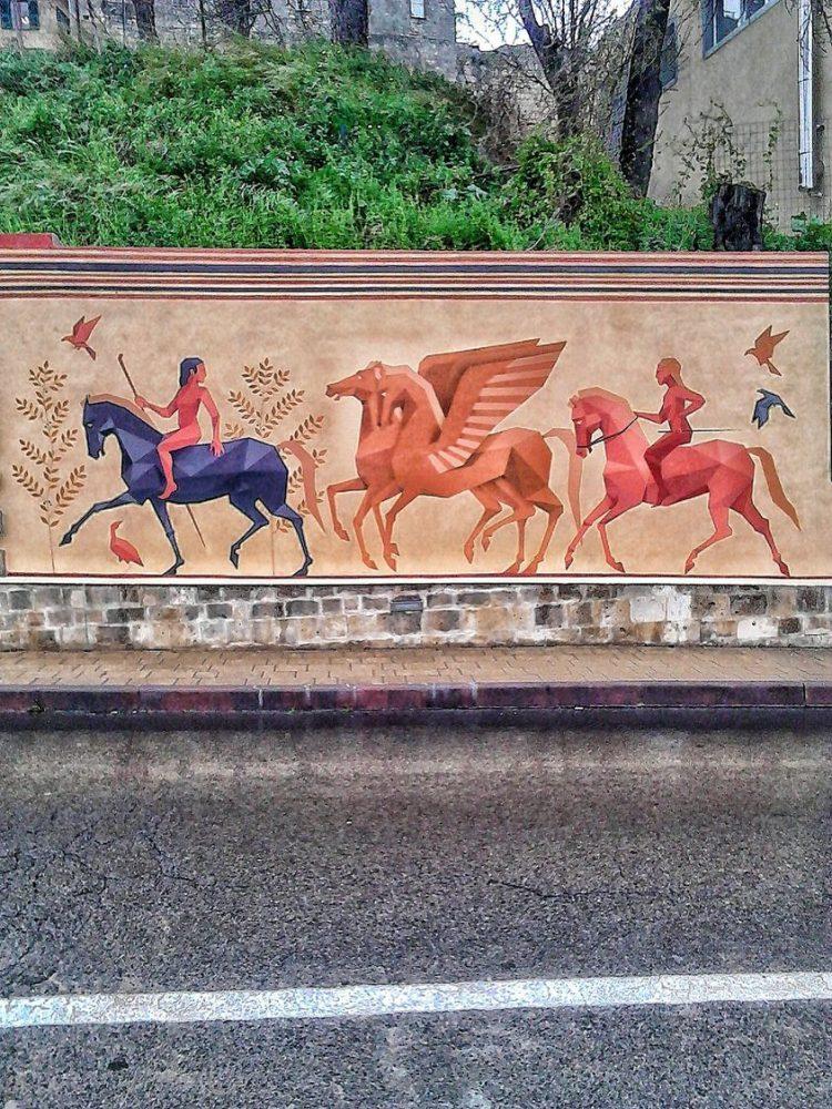 Tarquinia, piovono consensi per il murale dell'artista Guido Sileoni