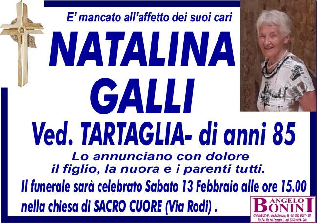 NATALINA GALLI ved. TARTAGLIA di anni 85