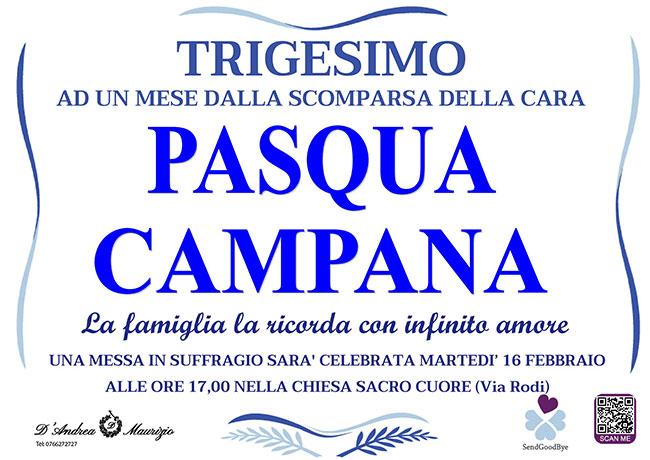 PASQUA CAMPANA – Trigesimo