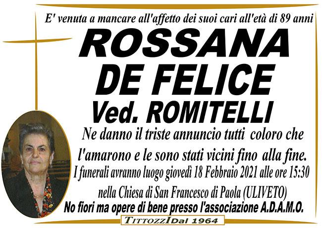 ROSSANA DE FELICE ved. ROMITELLI