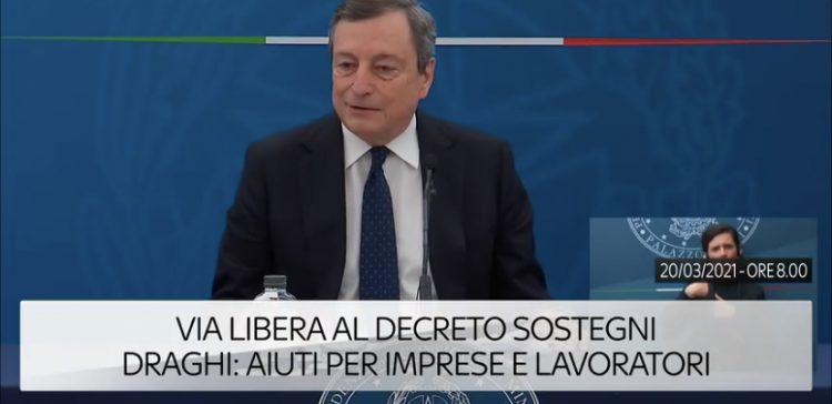 Via libera al decreto Sostegni, Draghi: aiuti per imprese e lavoratori. Ecco i dettagli