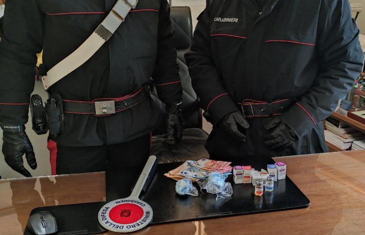 Cocaina e anabolizzanti: 29enne arrestato dai Carabinieri