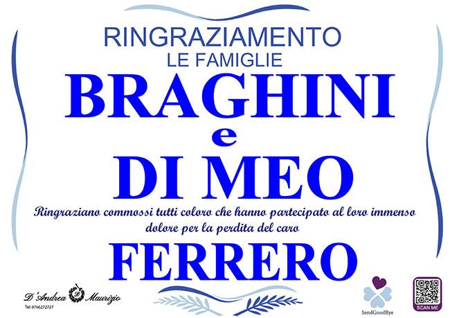FERRERO BRAGHINI – Ringraziamento