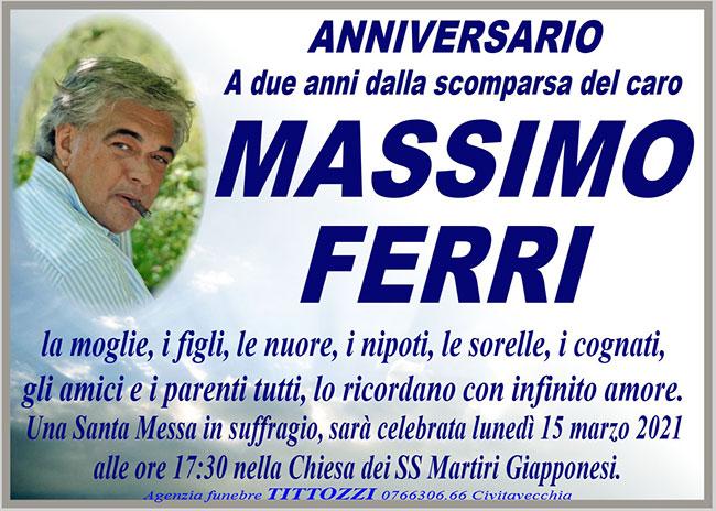 MASSIMO FERRI – Anniversario