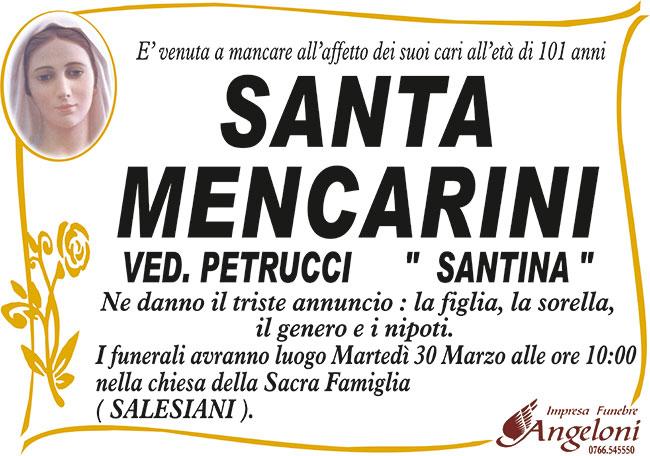 """SANTA MENCARINI ved. PETRUCCI """"SANTINA"""""""