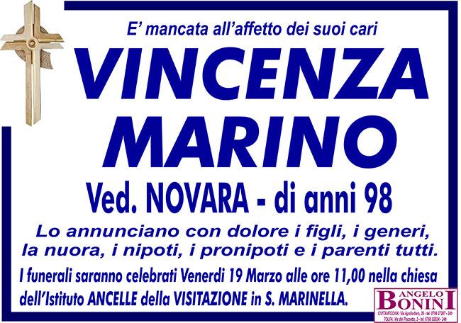 VINCENZA MARINO ved. NOVARA di anni 98