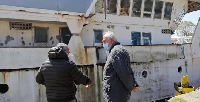 Nave fantasma, Montino: «In pochi     giorni sarà messa in sicurezza»