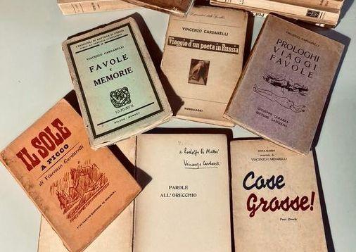 La biblioteca di Tarquinia si dota di preziosi      volumi del poeta Vincenzo Cardarelli