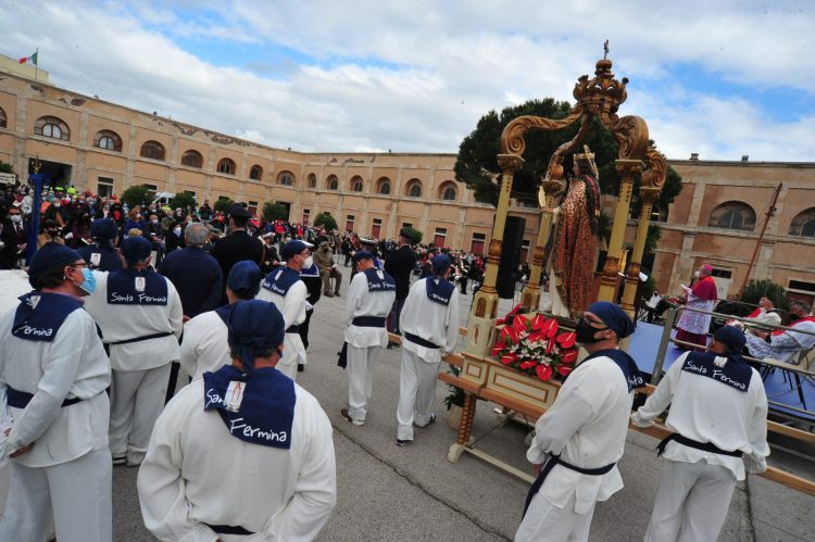 Santa Fermina, il vescovo Ruzza: «Ripartiamo da qui»