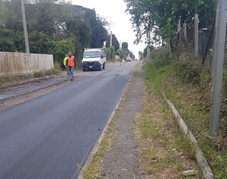 Cerveteri: asfalto nuovo per la via Doganale