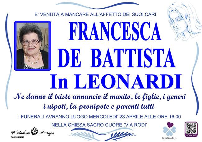 FRANCESCA DE BATTISTA in LEONARDI