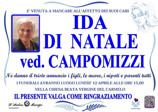 IDA DI NATALE ved. CAMPOMIZZI