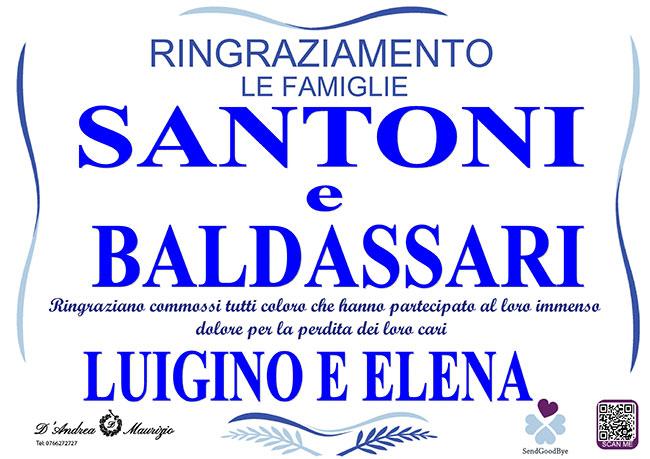 LUIGINO SANTONI e ELENA BALDASSARI – Ringraziamento
