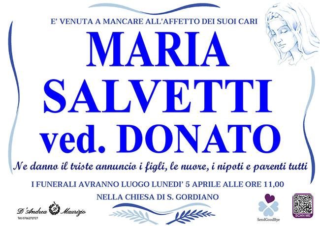 MARIA SALVETTI ved. DONATO
