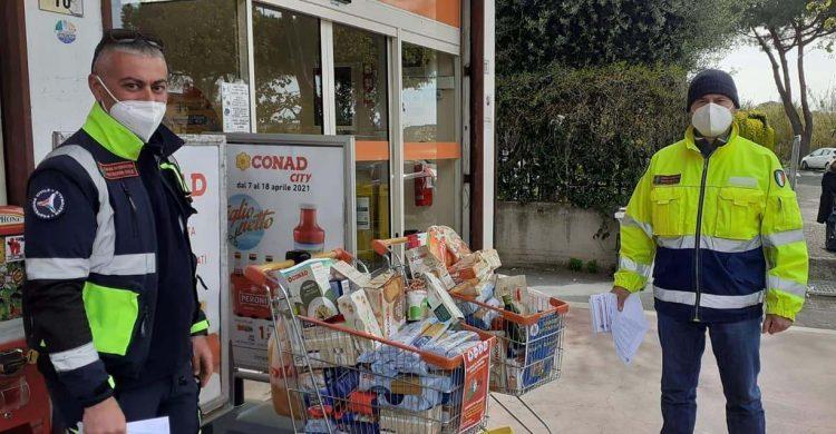 Cerveteri, in un anno      consegnati 2558 pacchi alimentari