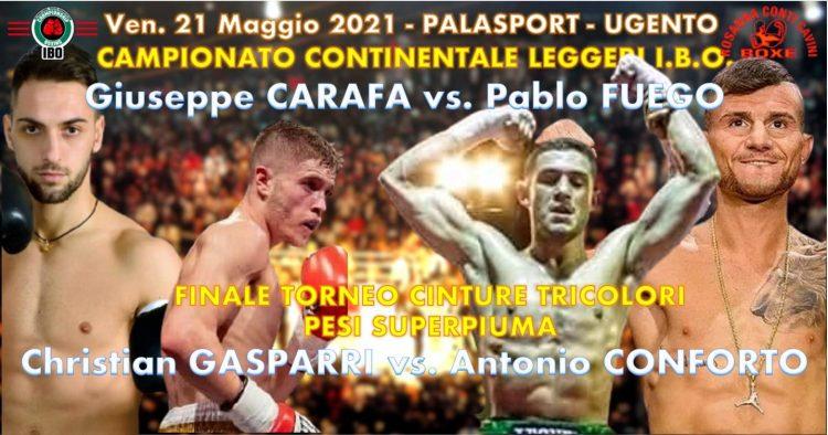 Christian Gasparri sfida Antonio Conforto nella finale del Torneo Cinture Tricolori
