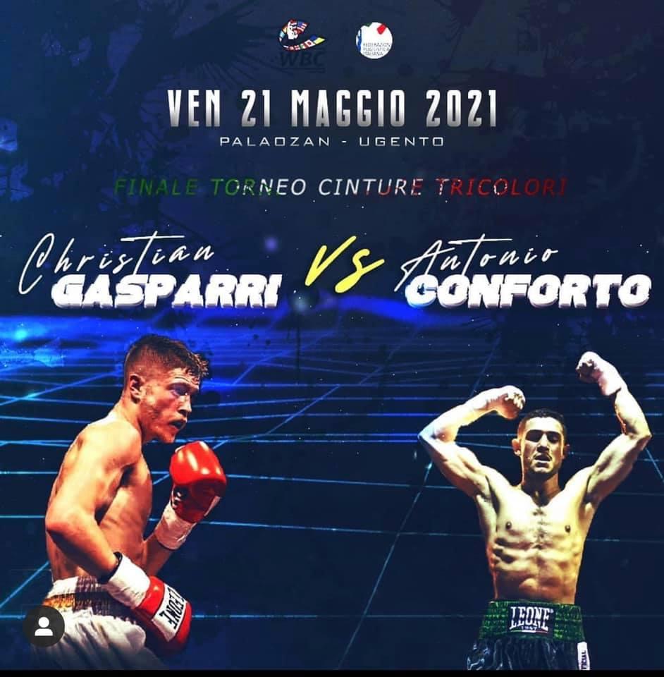 Christian Gasparri sfida Antonio Conforto per la corona dei pesi superpiuma