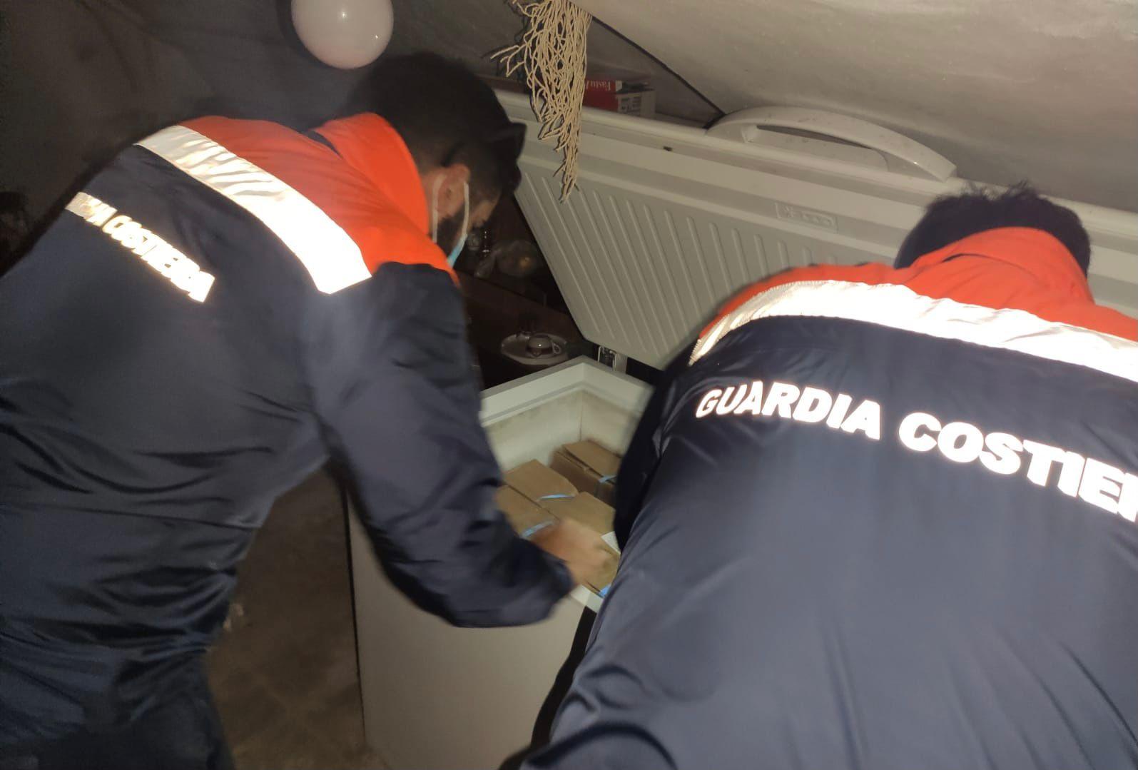 Sequestrati oltre 150 kg di pesce dalla Guardia costiera di Civitavecchia