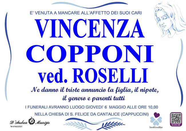 VINCENZA COPPONI ved. ROSELLI