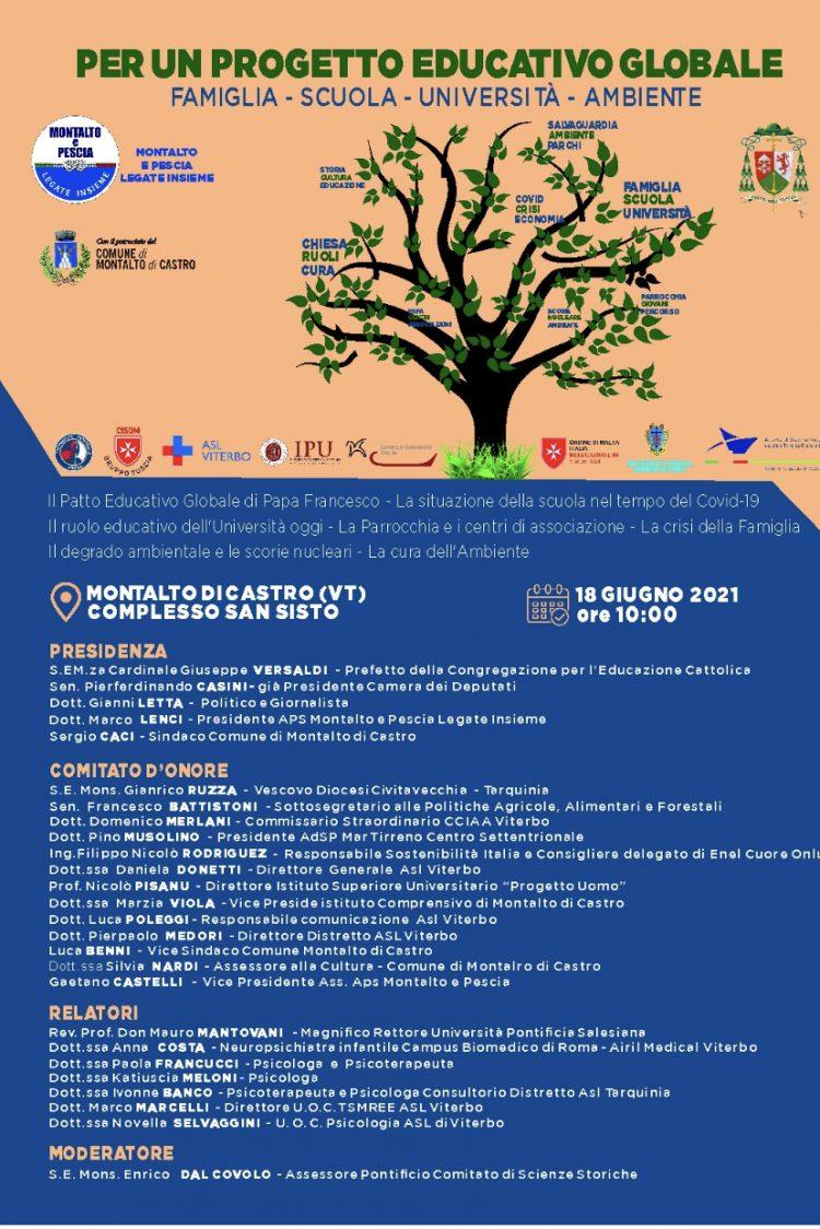 Per un progetto educativo globale: famiglia, scuola, Università e Ambiente al centro del convegno a Montalto