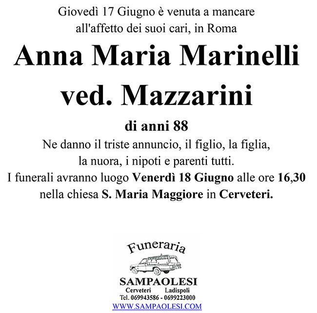 ANNA MARIA MARINELLI ved. MAZZARINI di anni 88
