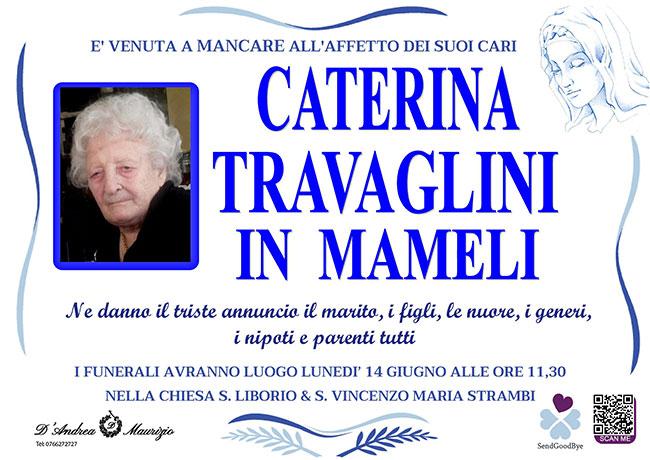 CATERINA TRAVAGLINI in MAMELI