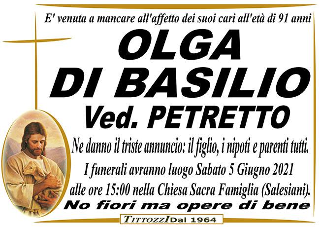 OLGA DI BASILIO ved. PETRETTO
