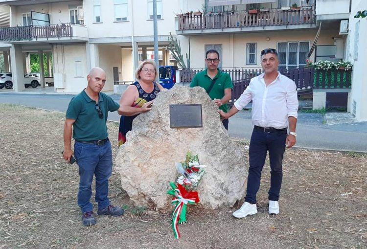 Agraria Tarquinia, omaggio floreale in memoria di Borsellino e della sua scorta