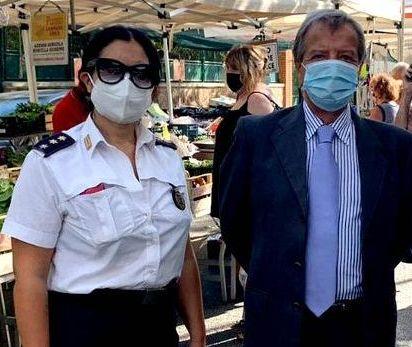 EUROPEI DI CALCIO Tidei elogia il comandante della Polizia locale Kety Marinangeli e il maresciallo Cappelletti
