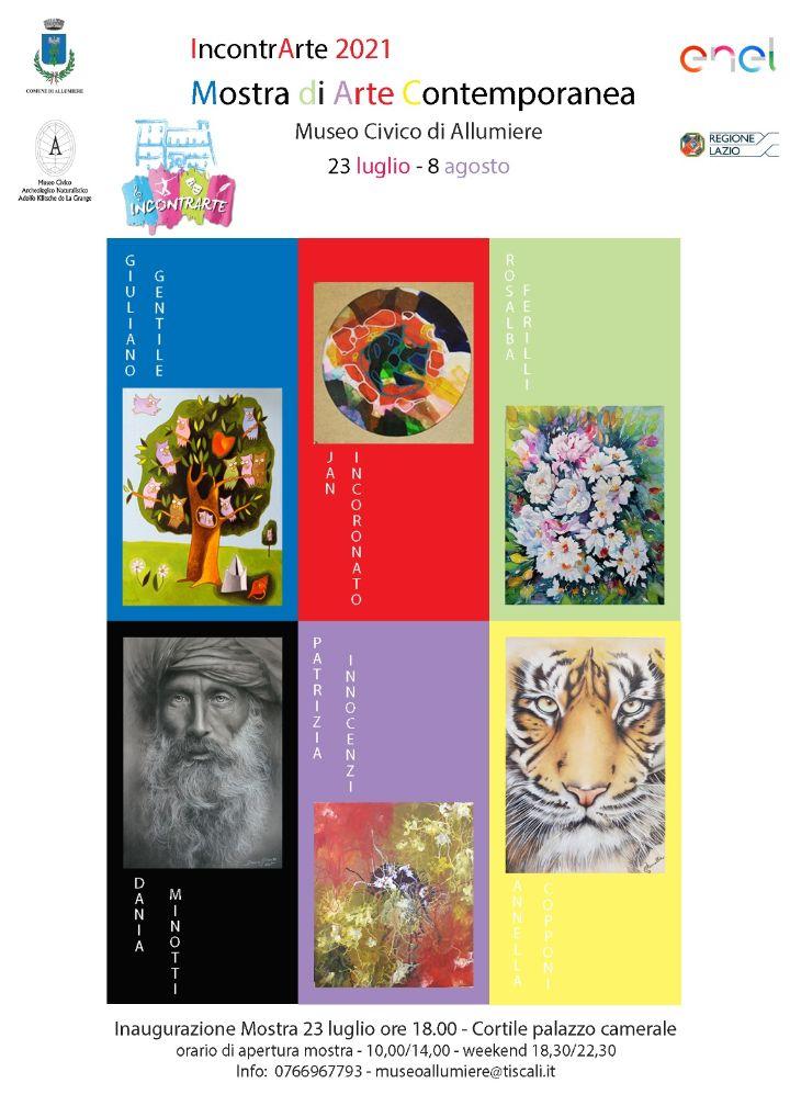 """IncontrArte 2021,  si apre oggi la mostra al museo  """"Klitsche de La Grange"""""""