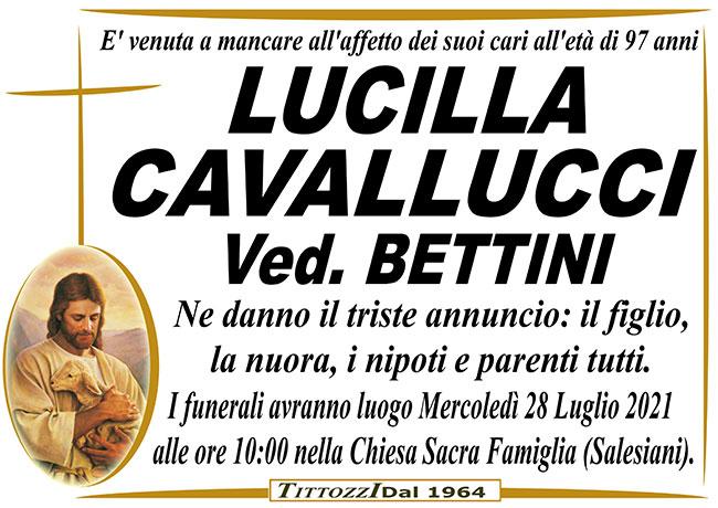 LUCILLA CAVALLUCCI ved. BETTINI