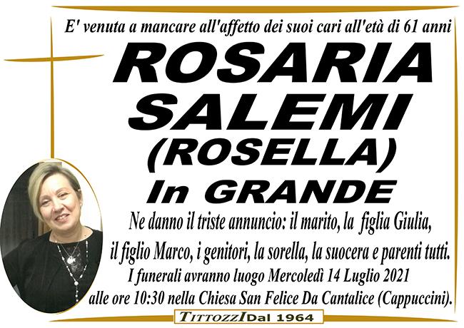 ROSARIA SALEMI (ROSELLA) in GRANDE