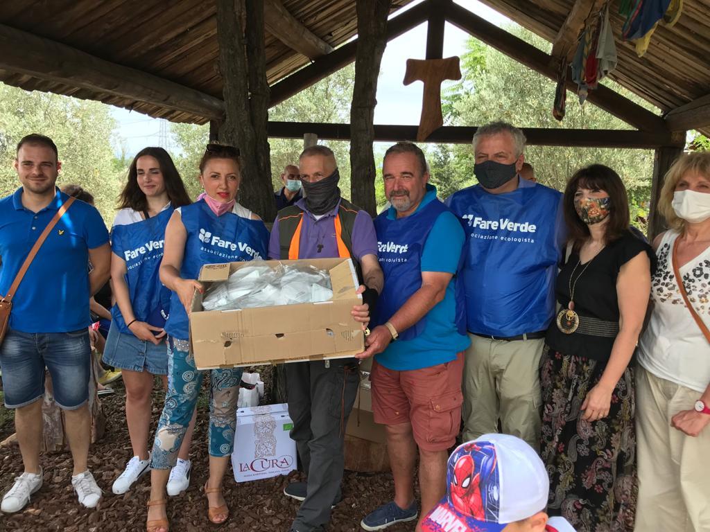 Fare verde Civitavecchia dona 2,500 mascherine al Capitano Ultimo