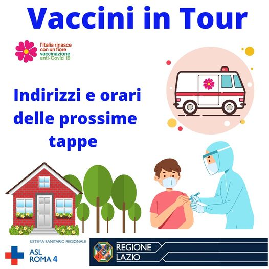 Vaccini in tour: ecco tutte le tappe. Ladispoli e Santa Marinella l'11 e 12 luglio