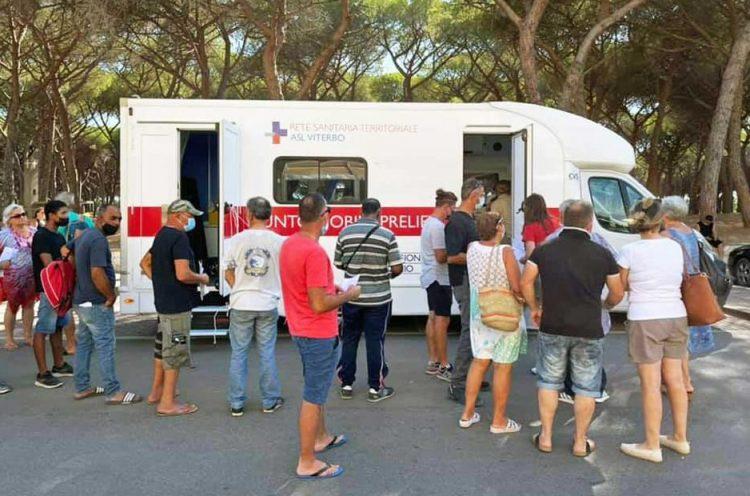 Vax tour: oggi tappa a Tarquinia Lido