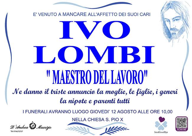 "IVO LOMBI ""Maestro del lavoro"""