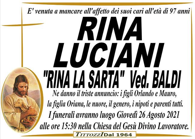 "RINA LUCIANI ""RINA LA SARTA"" ved. BALDI"
