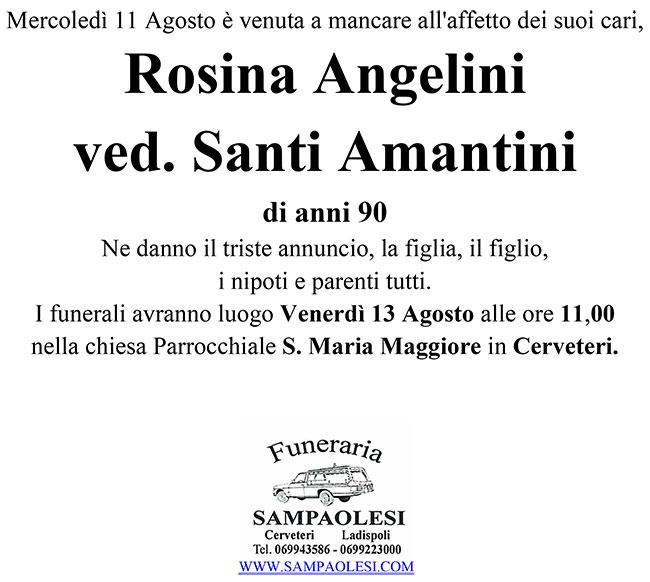 ROSINA ANGELINI Ved. SANTI AMANTINI di anni 90