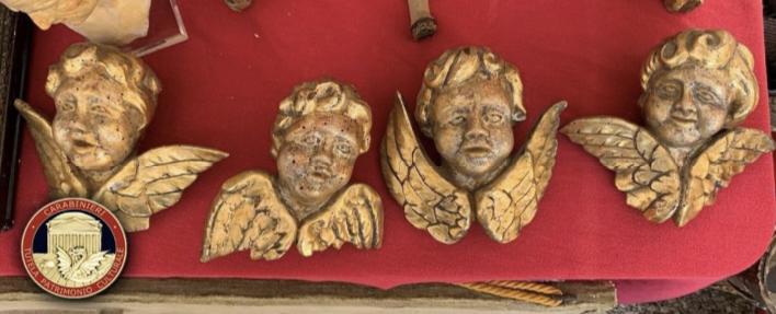 Ritrovati dai Carabinieri gli angeli trafugati dalla chiesa del Suffragio di Tarquinia