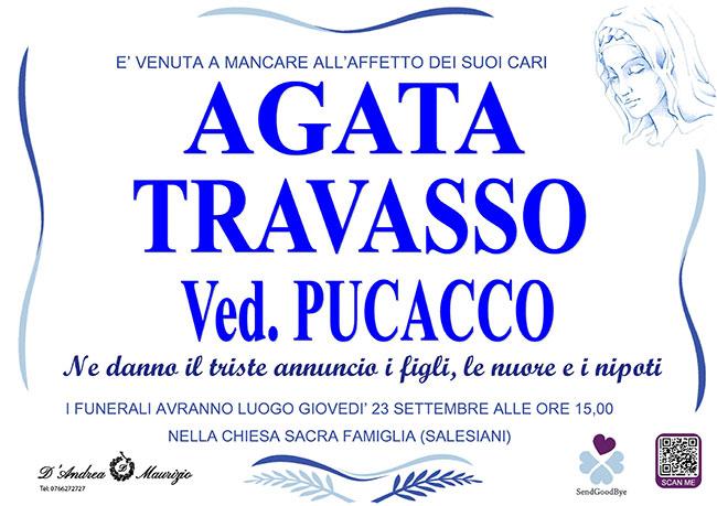 AGATA TRAVASSO ved. PUCACCO